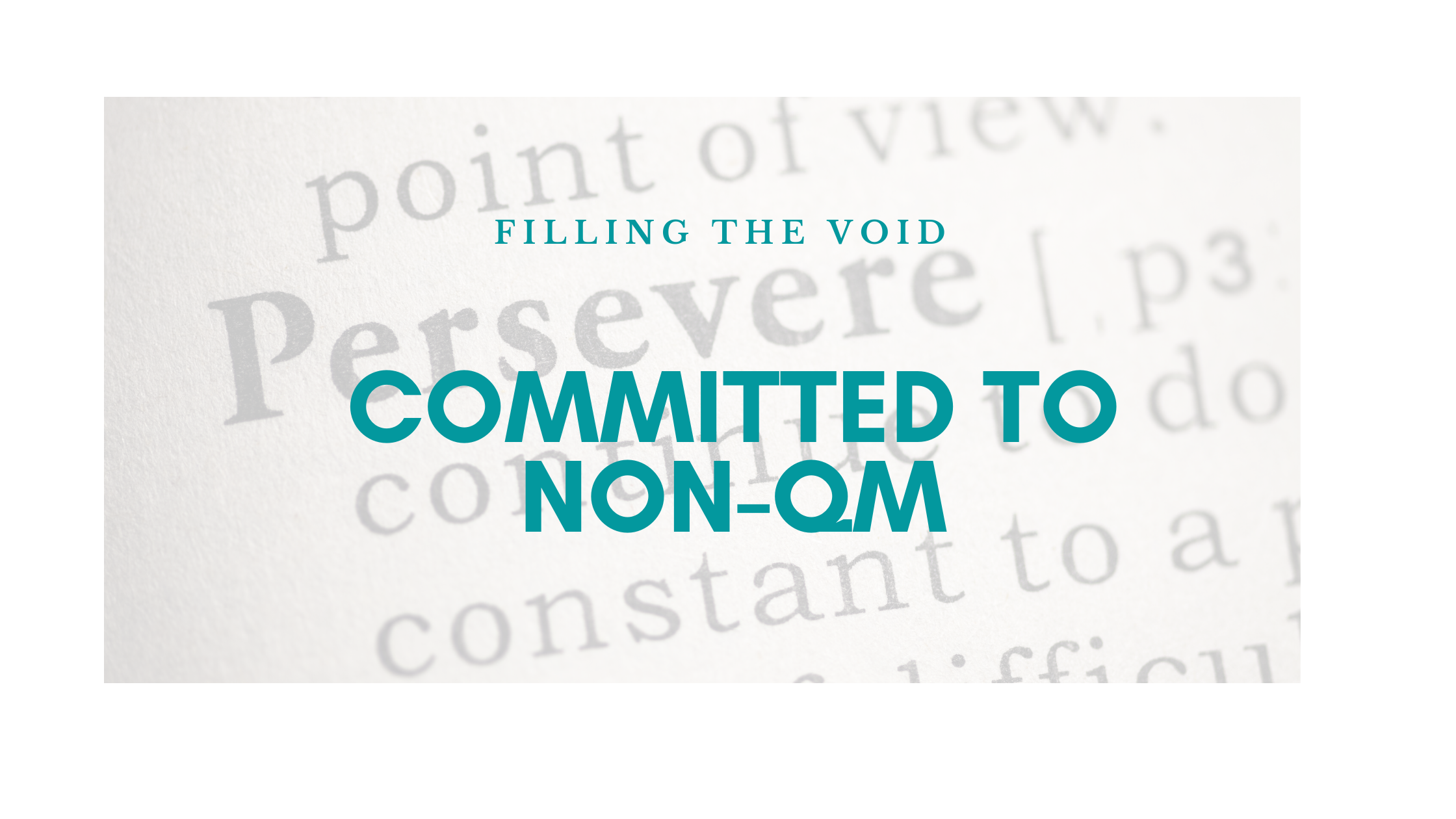Committed to Non-QM